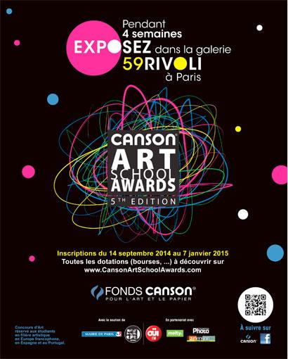 Le 59Rivoli expose les lauréats de la 5e édition des Canson® Art School Awards, en plein cœur de Paris !