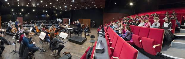 Répétition de l'Orchestre en présence des enfants © Marc Benita