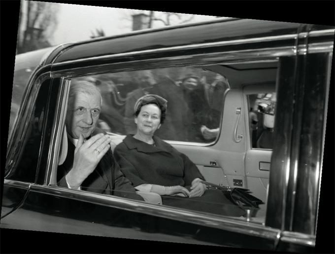 Charles De Gaulle et la première Première Dame © DR