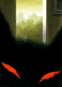 """FLAIR Galerie expose douze illustrations de Christian Roux, tirées du livre """" Le loup et les sept chevreaux """" paru en janvier 2015 aux Editions du Seuil Jeunesse. Du 23 mai au 27 juin 2015"""