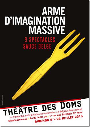 Programmation du Théâtre des Doms pour le Festival d'Avignon 2015