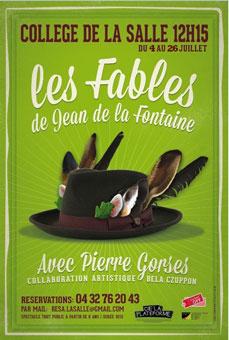 Festival d'Avignon Off 2015 : Les Fables de La Fontaine, collège de la salle, du 4 au 26 juillet