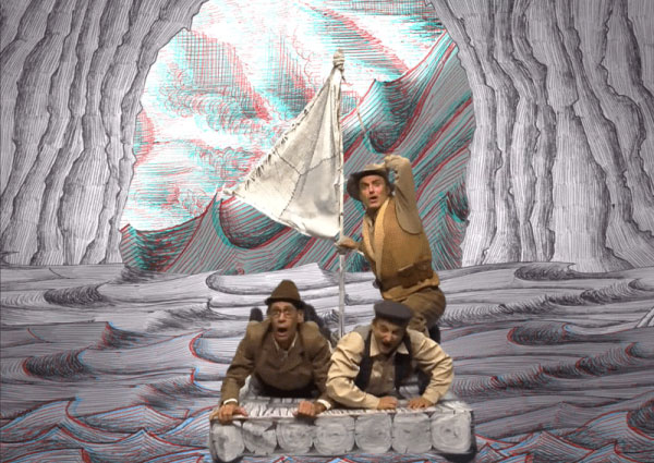 """Festival d'Avignon Off 2015 : """" Voyage au centre de la Terre"""" de Jules Verne, Cie du Théâtre du Pont Tournant, théâtre Notre-Dame du 4 au 26 juillet à 11h"""