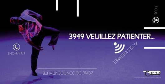 Festival d'Avignon Off 2015 : 3949, veuillez patienter,  compagnie Carna, du 4 au 26 Juillet 2015 à 18h30 au Théâtre Golovine