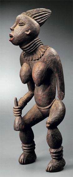 Bangwa, Cameroun. Statue lefem à l'effigie d'une princesse. Bois et pigments