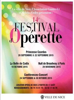 14e Festival d'opérette de la Ville de Nice. Par Christian Colombeau