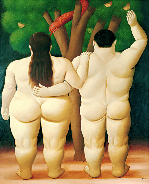 Fernando Botero, Adam and Eve 1998. Huile sur toile. Collection Würth © J. Hyde