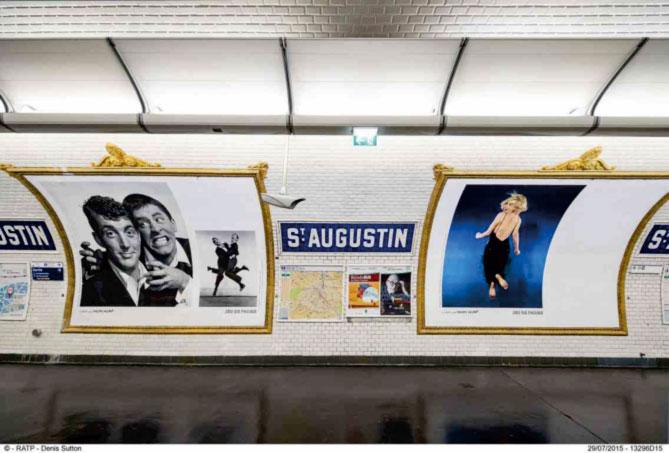La RATP invite Philippe Halsman du 20 octobre 2015 au 24 janvier 2016, dans 16 stations et gares de son réseau