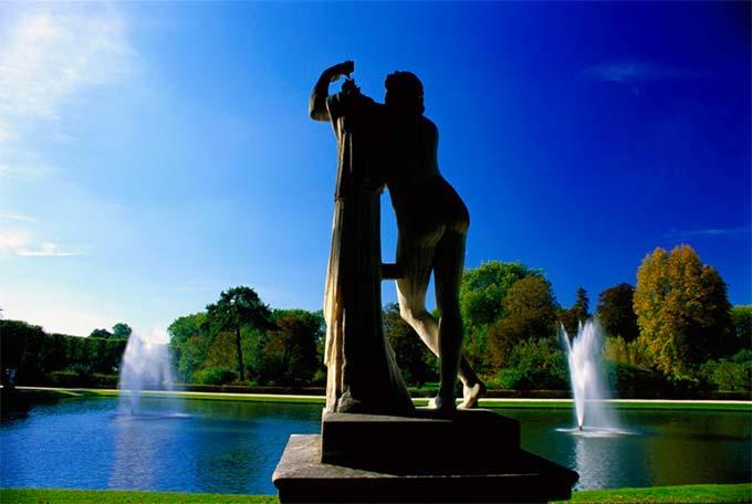 Jean-Baptiste Leroux « Apollon-Pothos au bassin du miroir » Parc du château de Versailles