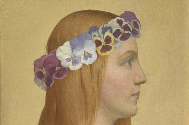 Alexandre Séon, La Pensée, vers 1899, huile sur toile (détail), collection Lucile Audouy © Thomas Hennocque Musee de Valence