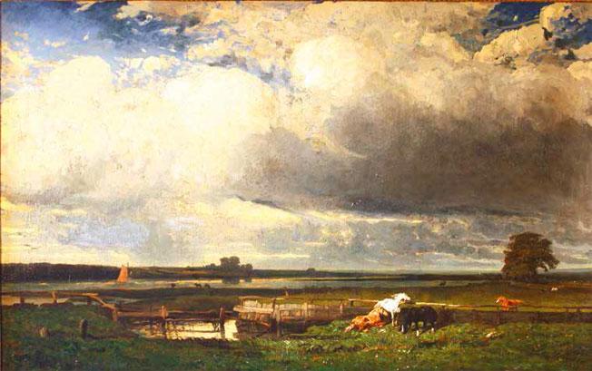 Jules Dupré (1811-1889) Environs de Southampton 1835 Huile sur toile L'Isle-Adam, musée d'Art et d'Histoire Louis-Senlecq