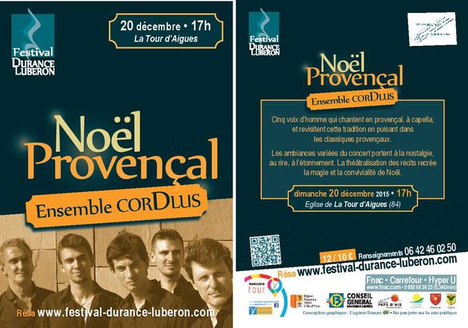 Concert de Noël à la Tour d'Aigues - dimanche 20 décembre 2015 - festival Durance Luberon