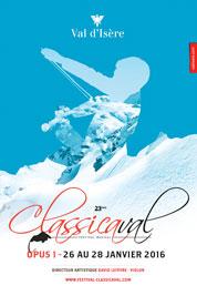 Classicaval Opus 1, musique classique à Val d'Isère du 26 au 28 janvier 2016