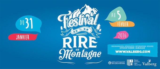 Festival du Rire en Montagne du 31 janvier au 5 février 2016 à Valberg
