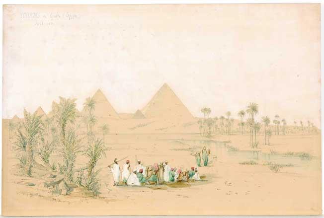 © Alfred Koechlin-Schwartz - Pyramides de Giseh (Egypte) - Avril 1854  Coll. Musée de la Castre, Cannes © photo C. Germain