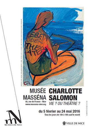 Charlotte Salomon Vie ? ou Théâtre ? exposition du 5 février au 24 mai 2016 au Musée Masséna, Nice