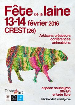 Fête de la laine à Crest (26), Espace Soubeyran les 13 &14 février 2016