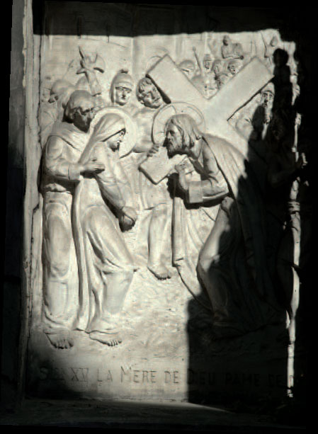 Station XV du Chemin de croix - Bas-relief de Donzelli © Ferrante Ferranti