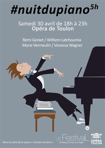 Nuit du piano, samedi 30 avril de 18h à 23h à l'Opéra de Toulon