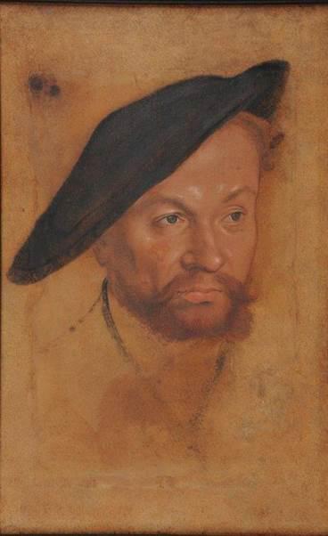 Un prince, Lucas Cranach Le Jeune. Vers 1540. Technique mixte sur papier contrecollé sur carton 30 x 19,7 cm. Inv. 795.1.272 © MBA Reims 2016/Photo: Christian Devleeschauwer