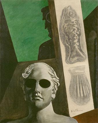 Giorgio de Chirico (1888-1978), Portrait (prémonitoire) de Guillaume Apollinaire. Musée de l'Orangerie, Paris