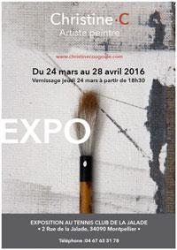 """""""Résilience"""", exposition de peintures de Christine Cougoule du 24 mars au 28 avril 2016 au Tennis Club de la Jalade, Montpellier"""