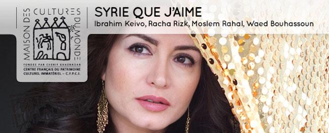 Syrie que j'aime - quatre concerts à l'Opéra de Lyon en mars et avril 2016
