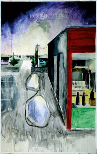 Memory Motel, 2013-2014, aquarelle, 150 x250 cm