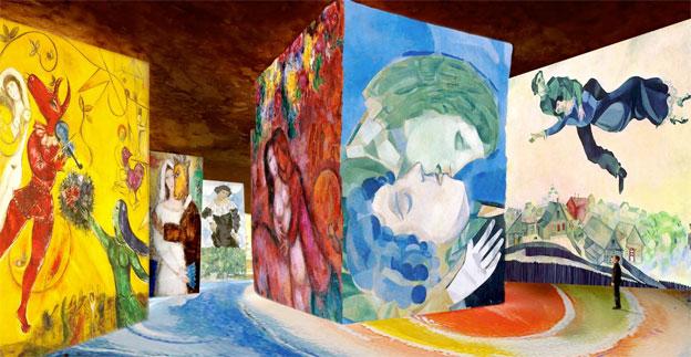 Les Baux de Provence, Carrières de lumières : « Chagall, Songes d'une nuit d'été ». Spectacle multimédia, du 4 mars 2016 au 8 janvier 2017