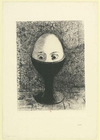 Odilon Redon, L'Oeuf, 1885.@ BnF