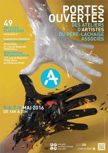 Portes ouvertes des Ateliers du Père Lachaise Associés, Paris, du 5 au 8 mai 2016