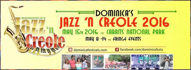 Festival Jazz 'n Creole 2016 à la Dominique, West Indies, du 8 au 15 mai