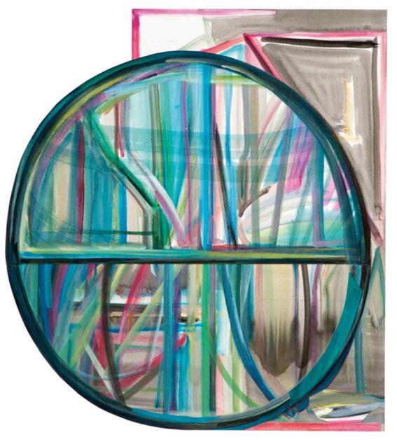Tondo 2015 acrylique, encre de chine et collage sur papier 69,5 x 62,5 cm