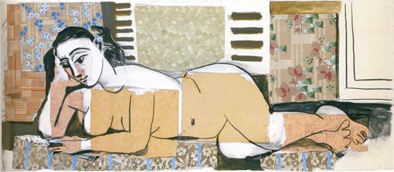 Femme nue allongée,1955, 80 x 190 cm. Musée Picasso, Paris{C)Succession Picasso / 2016