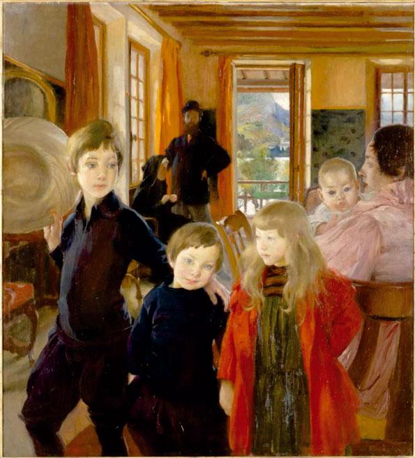 Albert Besnard, Une famille, 1890. Huile sur toile, 132 x 120,5 cm. Paris, musée d'Orsay © Photo RMN-Grand Palais (musée d'Orsay) - Franck Raux