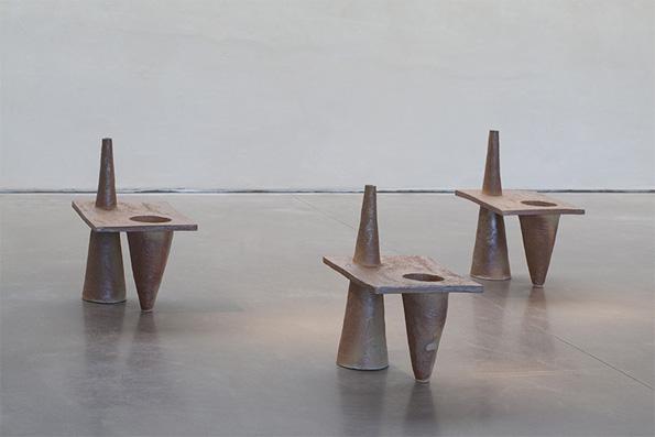 Bettina Samson et Lucien Petit, Kafotablo, céramiques, 2016, photographie Jean Frémiot