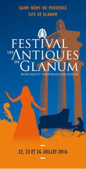 Festival Les Antiques de Glanum. 22-24 juillet 2016