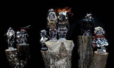 Château de Blandy-Les-Tours, Blandy Art Tour(s) : Matiti Elobi, Pascale Marthine Tayou en collaboration avec Galleria Continua, Jusqu'au 14 septembre 2008