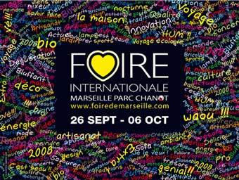 Marseille, Foire de Marseille du 26 septembre au 6 octobre 2008. Dernière chance pour Marseille de décrocher le titre de Capitale Européenne de la culture