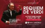 Requiem de Giuseppe Verdi. 3e concert de l'Orchestre National de Lille et Jean-Claude Casadesus au Stade Pierre Mauroy de Lille le 12 juillet 2017 à 21h
