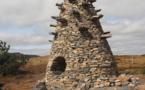 La Tour à Eau, de Gilles Clément, sur la ligne de partage des eaux en Ardèche