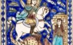 Saint Georges terrassant le dragon, Alep, 1699, Carreau de céramique © RMN-Grand Palais (Musée du Louvre) - Mathieu Rabeau