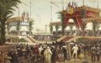 Inauguration du Canal de Suez. Tribune des Souverains © Souvenir de Ferdinand de Lesseps et du Canal de Suez / Lebas Photographie Paris