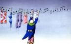 Le clown et le linge © Roger Blachon