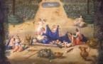 Vue du Grand Trianon prise des parterres, avec Flore et Zéphyr