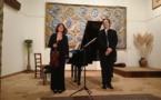Saskia Lethiec, violon, François Daudet, piano, en concert au centre d'art Yvon Morin à Poët Laval (26) le 9 février 2020