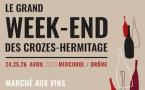 Les 24, 25 et 26 avril 2020, les vins et les vignerons de la vallée du Rhône nord sont à l'honneur du grand week-end des Crozes-Hermitage