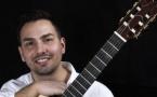 Anthony Ortiz, guitare, en concert à l'Espace Georges Brassens, Sète, le 12 mars 2020