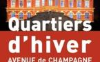 Epernay. Quartiers d'hiver avenue de Champagne du 4/12/20 au 3/1/21