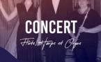 La Teste de Buch (33). Concert en trio flûte harpe et orgue avec l'Ensemble Traversées. 23 juillet 20h30